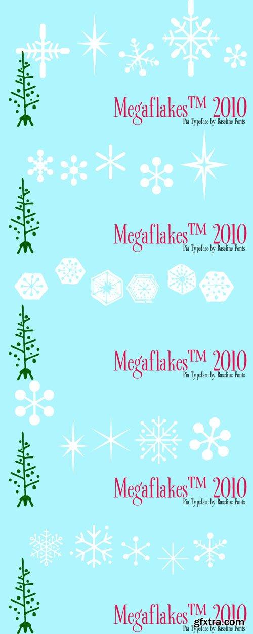 Megaflakes 2010 Font Family $20