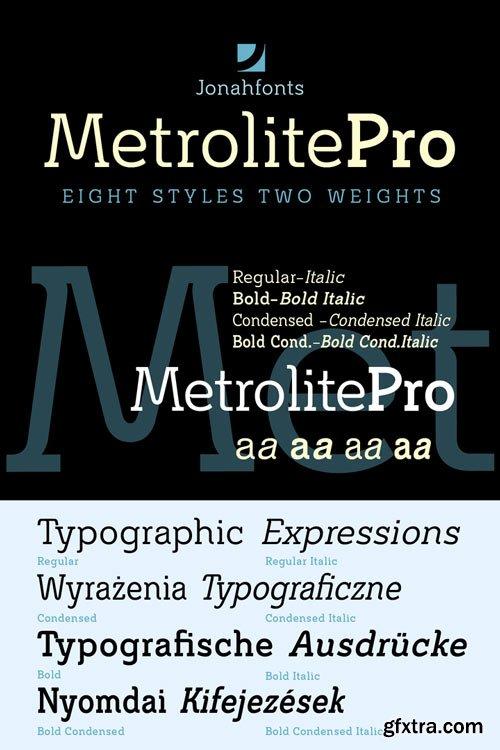Metrolite Pro Font Family $126
