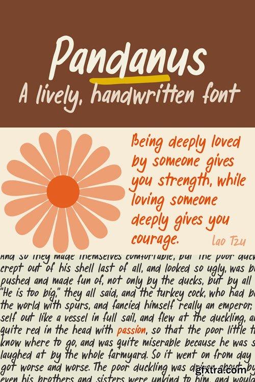 Pandanus Font Family $25