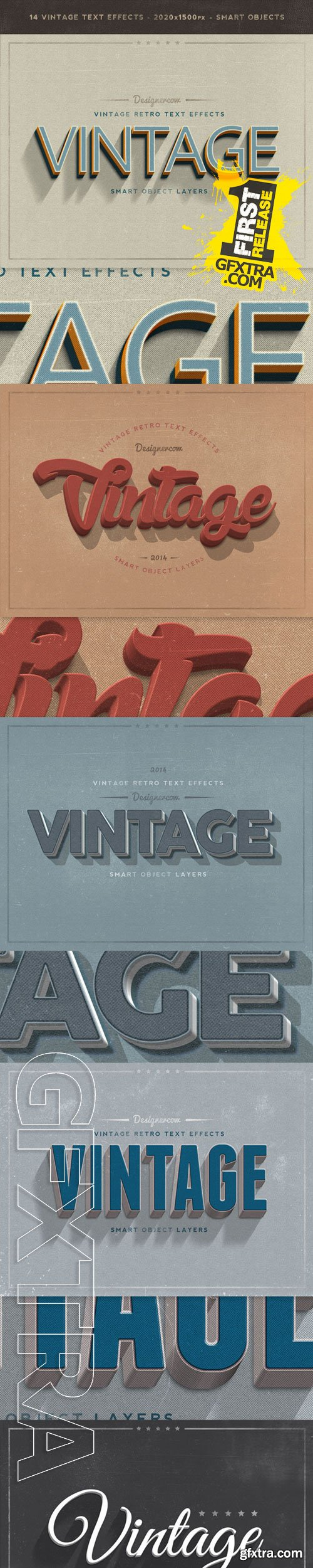 GraphicRiver - New Vintage Retro Text Effects 9373491