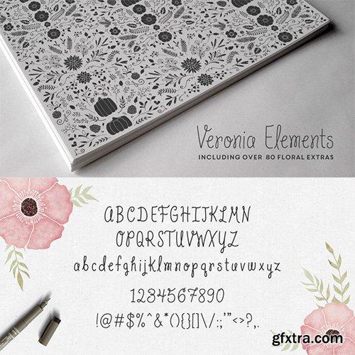 Veronia Font Family - 5 Fonts 55$