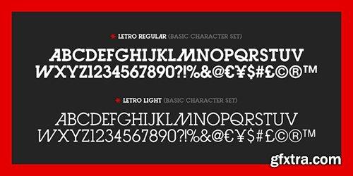 Letro Font Family 2 Fonts $70