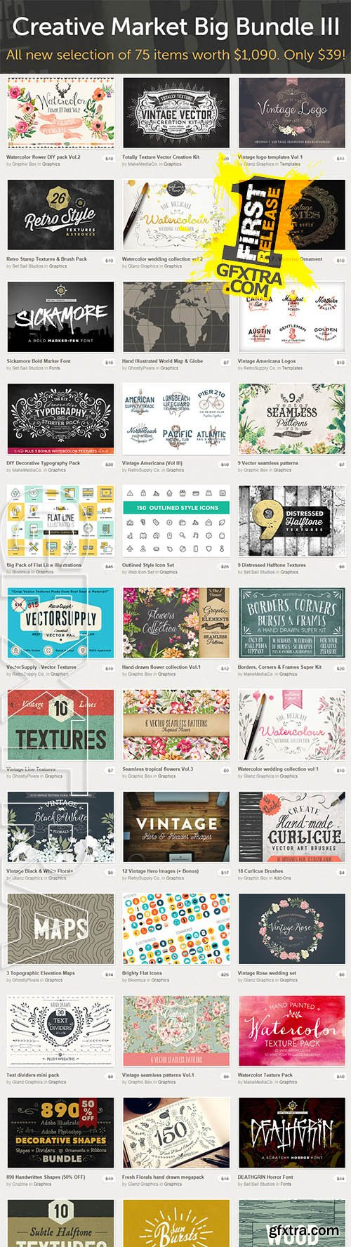 CreativeMarket - Big Bundle III