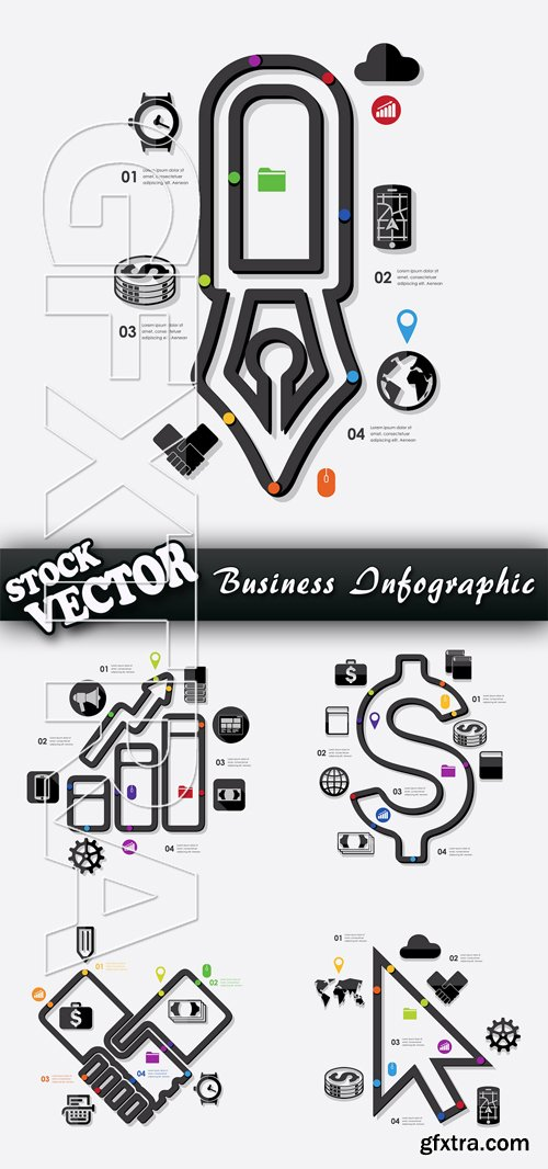 Stock Vector - Business Infographic