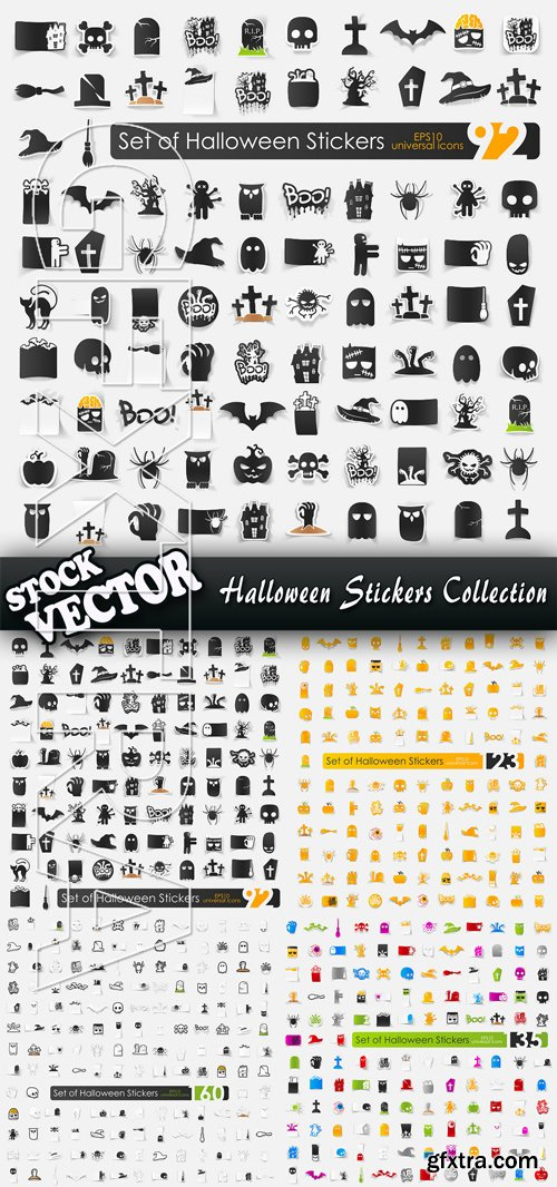 Stock Vector - Halloween Stickers Collection