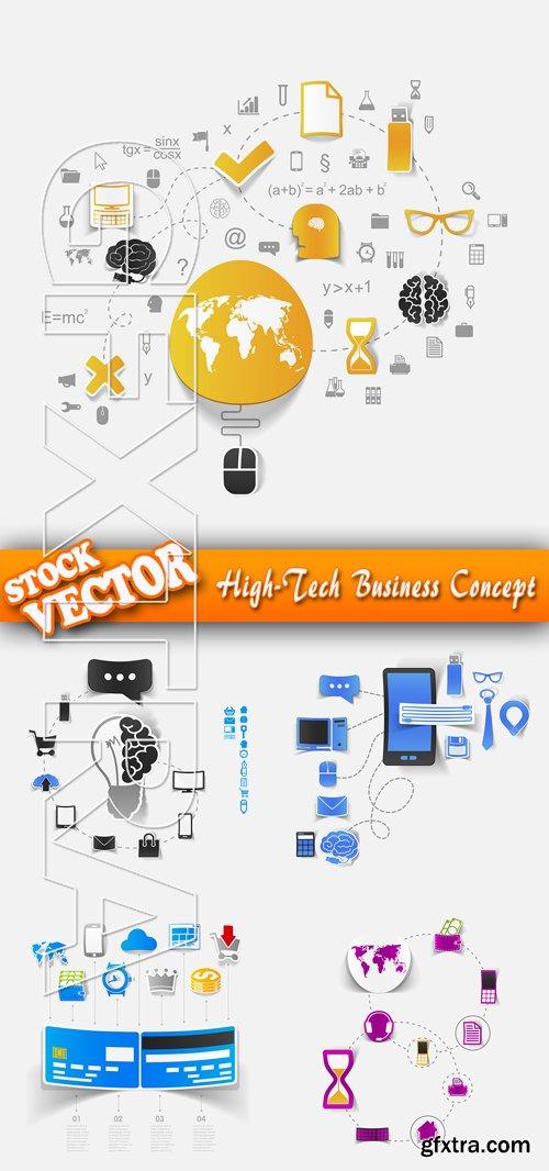 Stock Vector - High-Tech Business Concept