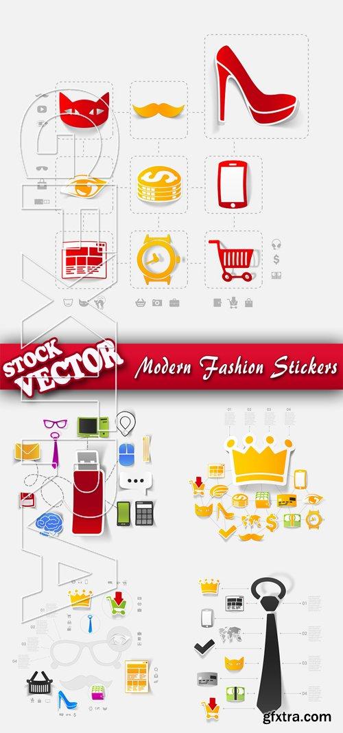Stock Vector - Modern Fashion Stickers