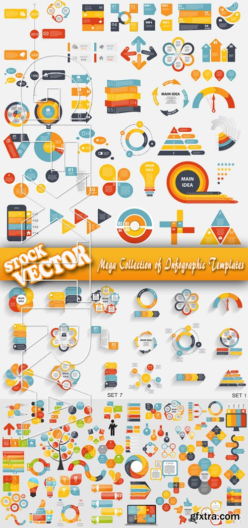 Stock Vector - Mega Collection of Infographic Templates