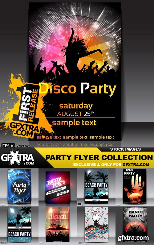 Party Flyer Collection - 30 Vector