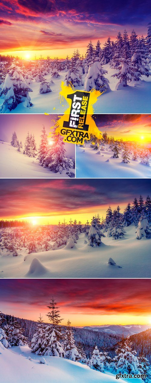 Stock Photo - Winter Landscapes & Sunset