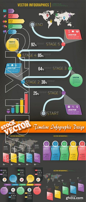 Stock Vector - Timeline Infographic Design