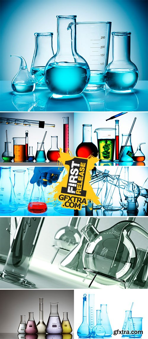 Stock Photo Assorted laboratory glassware