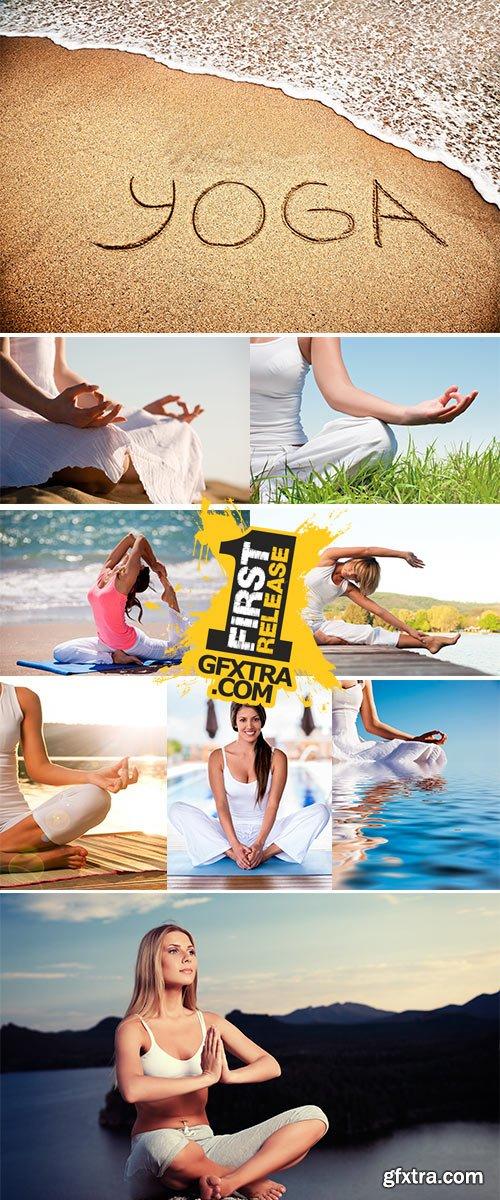 Stock Photo Exercises and meditation