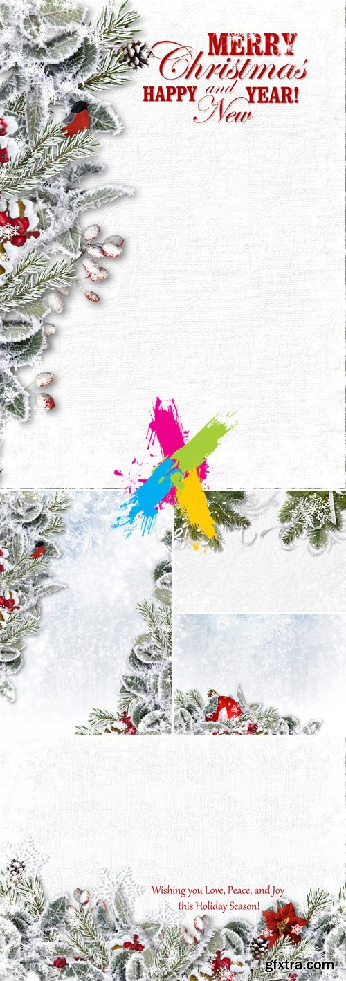 Stock Photo - Snowy Christmas Backgrounds
