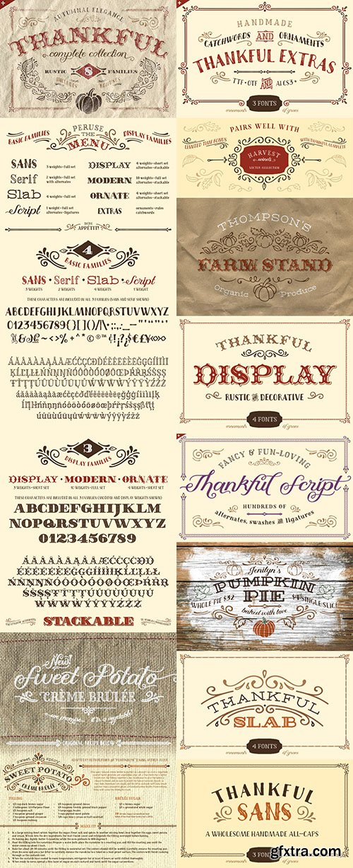 Thankful Complete Font Family