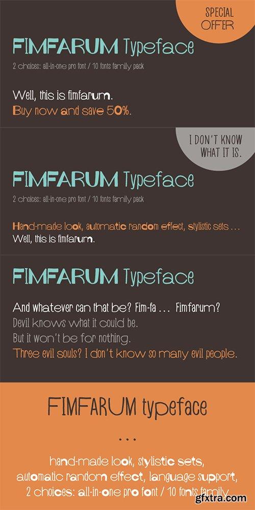 Fimfarum Font Family - 11 Fonts