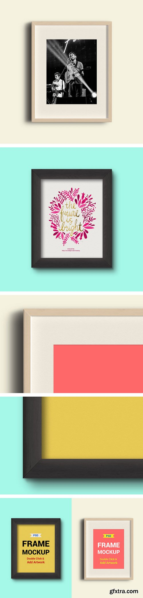 PSD Mock-Up's - Two Photo Frames
