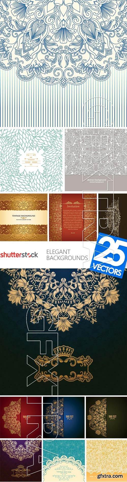 Elegant Backgrounds 25xEPS