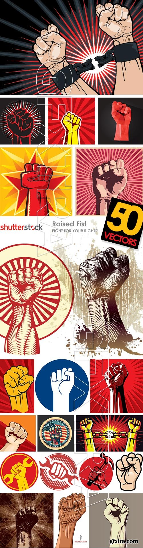 Raised Fist - Fight for Your Rights 50xEPS