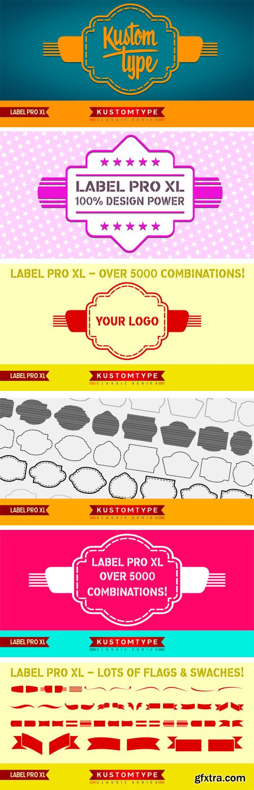 Label Pro XL Font Family - 12 Font for $220