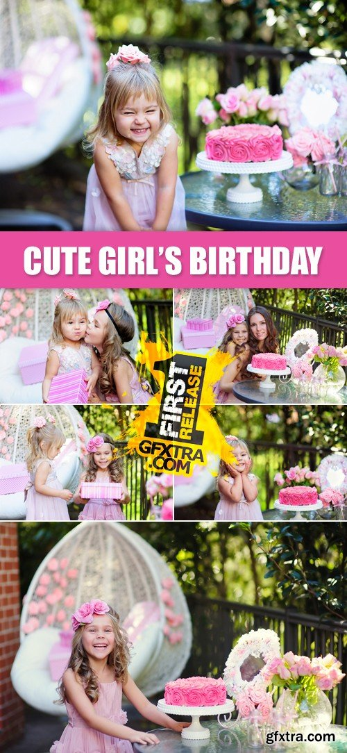 Stock Photo - Cute Little Girl's Birthday