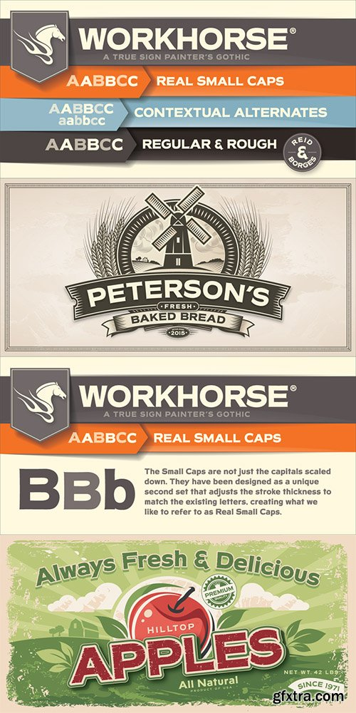 Workhorse Font Family - 2 Font $55