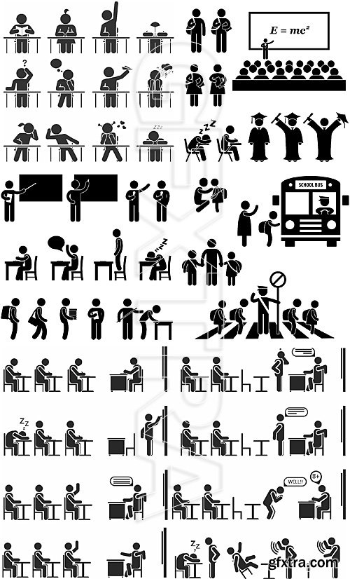 People pictograms 6-Education