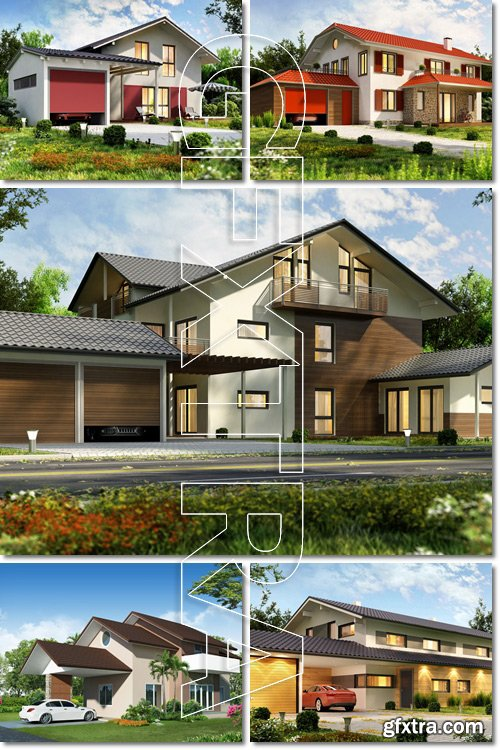 The dream house. 3D render of building - Stock photo