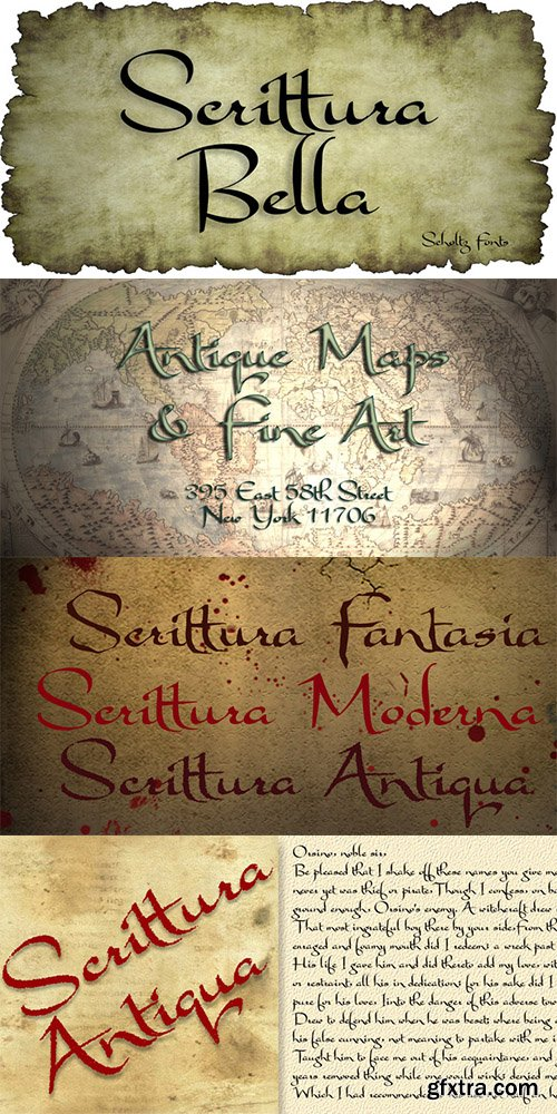 Scrittura Font Family - 3 Font $27