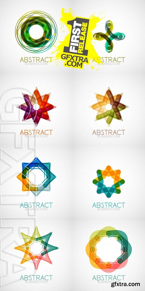 Vector - Symmetric Abstract Geometric Shape 2