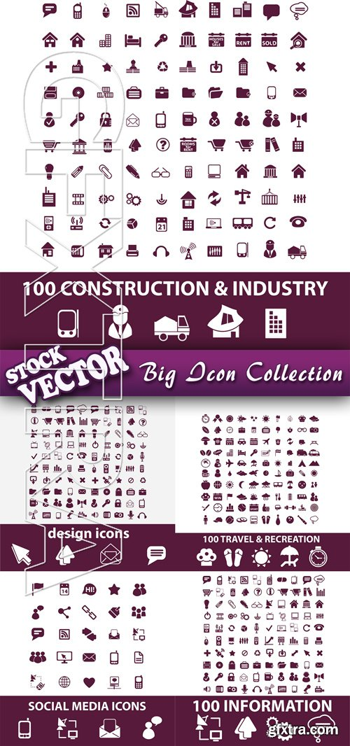 Stock Vector - Big Icon Collection