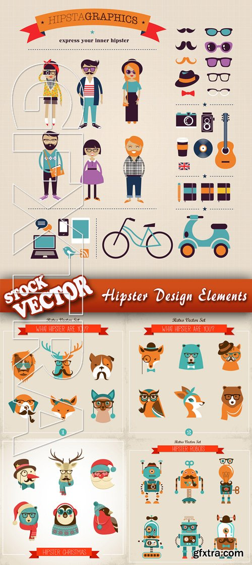 Stock Vector - Hipster Design Elements
