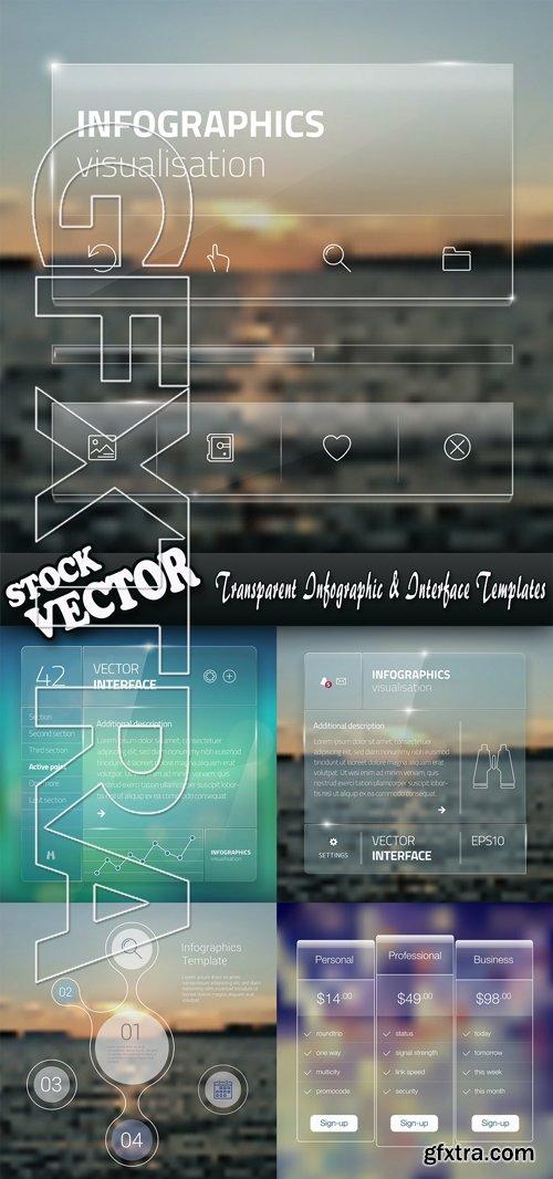 Stock Vector - Transparent Infographic & Interface Templates
