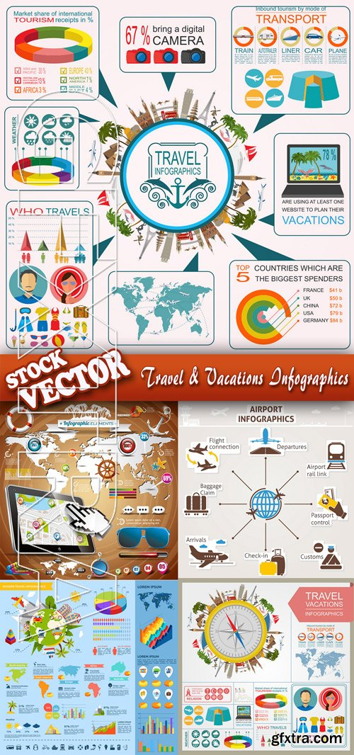 Stock Vector - Travel & Vacations Infographics
