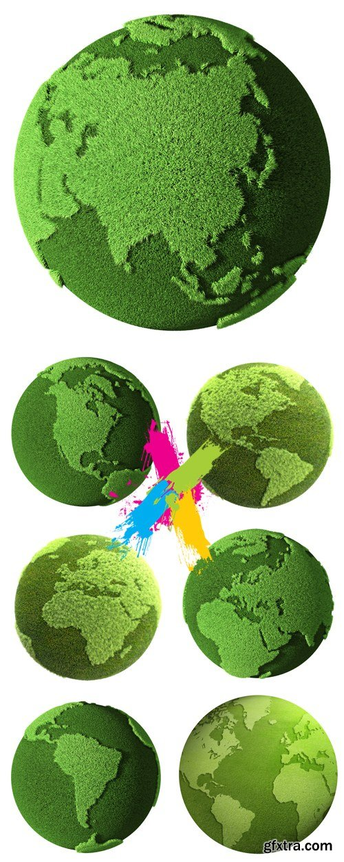 Stock Photo - Green Earth, Planet