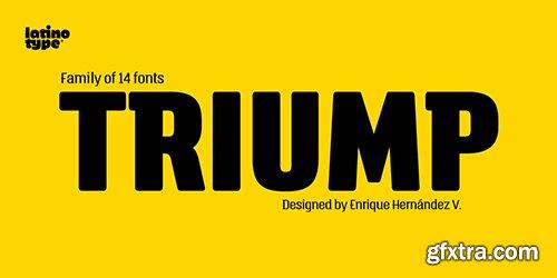 Triump Font Family - 14 Font $364