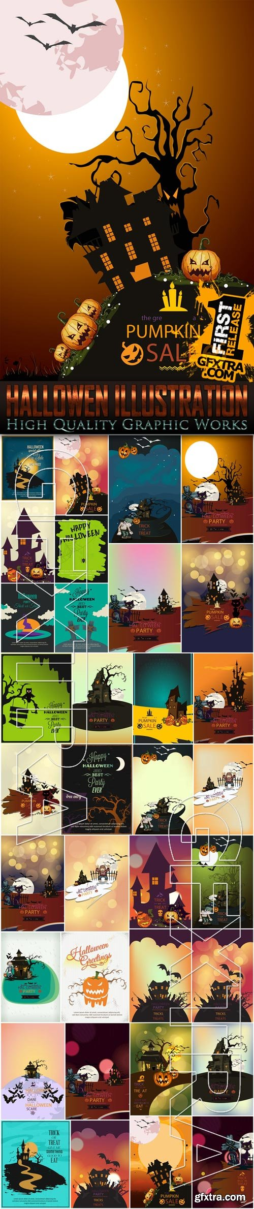 Stock Vector - Mega Halloween Illustrations, 35 EPS
