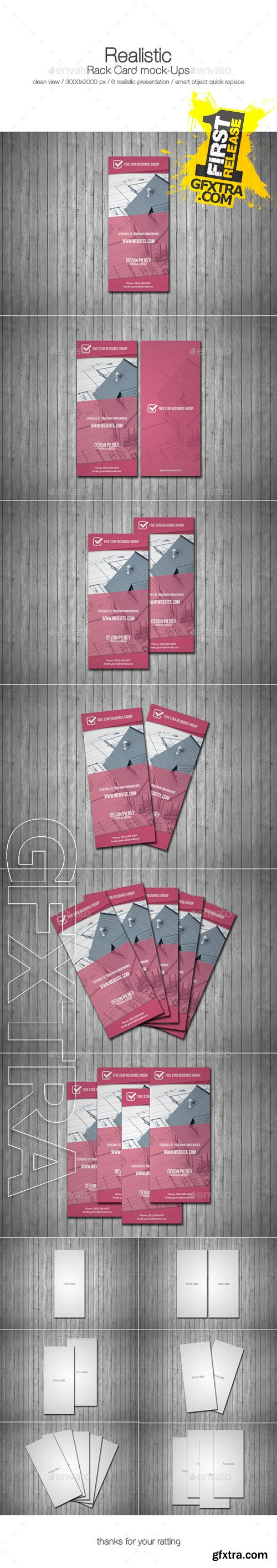 GraphicRiver - Realistic Rack Card Mock Up 9535725