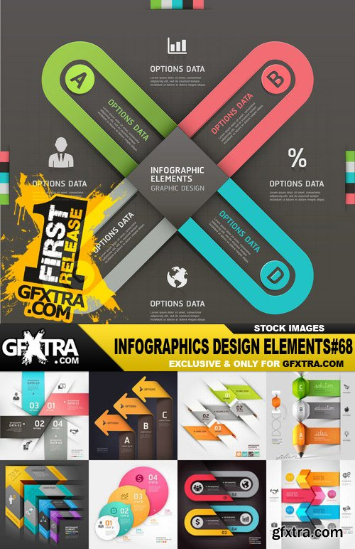 Infographics Design Elements#68 - 30 Vector