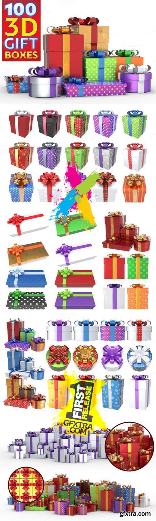 Gift Boxes Pack PNG