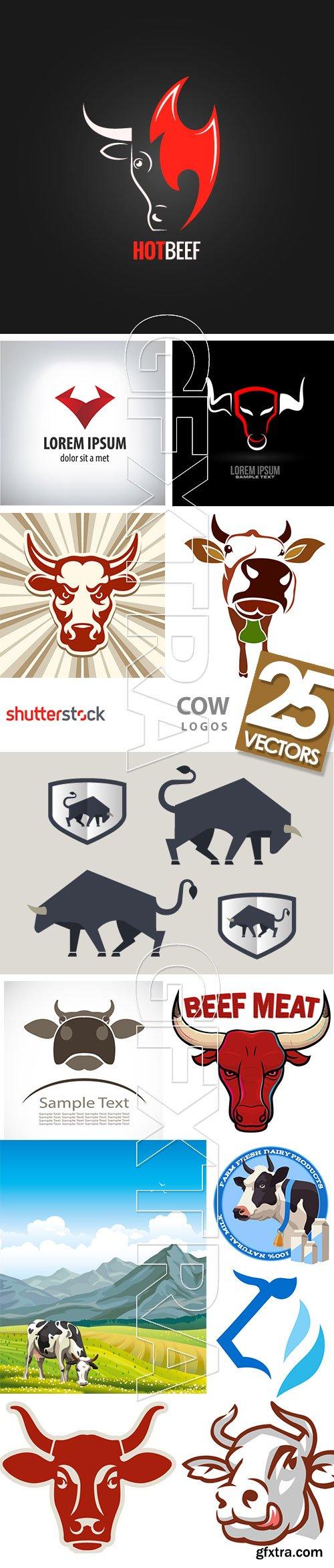 Cow Logos & Designs 25xEPS