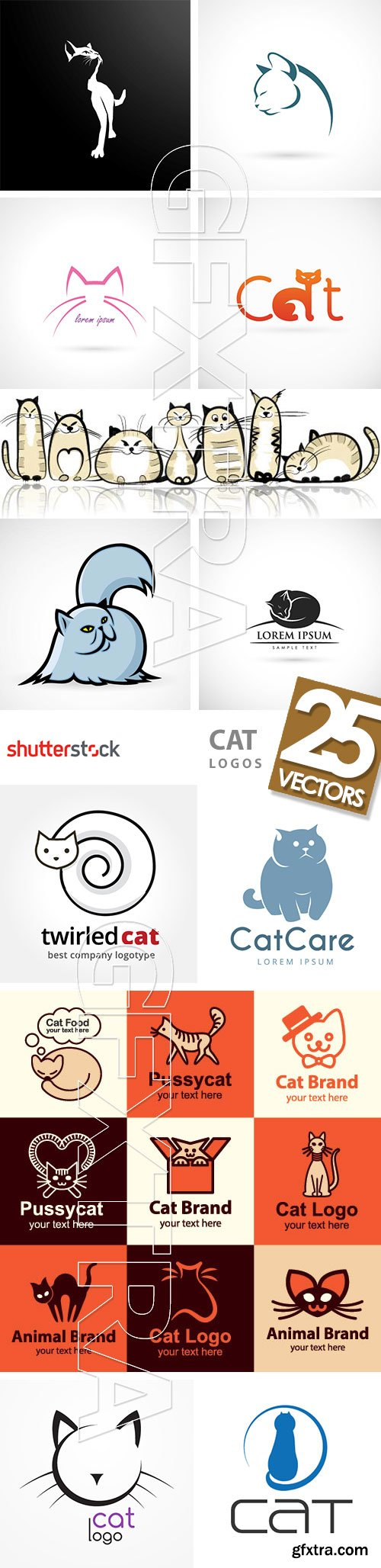 Cat Logos 25xEPS