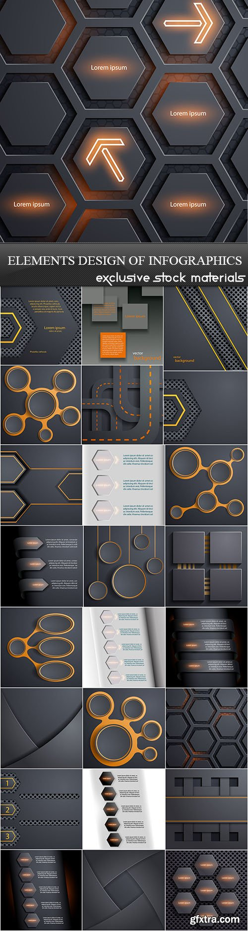 Elements Design of Infographics, 25xEPS