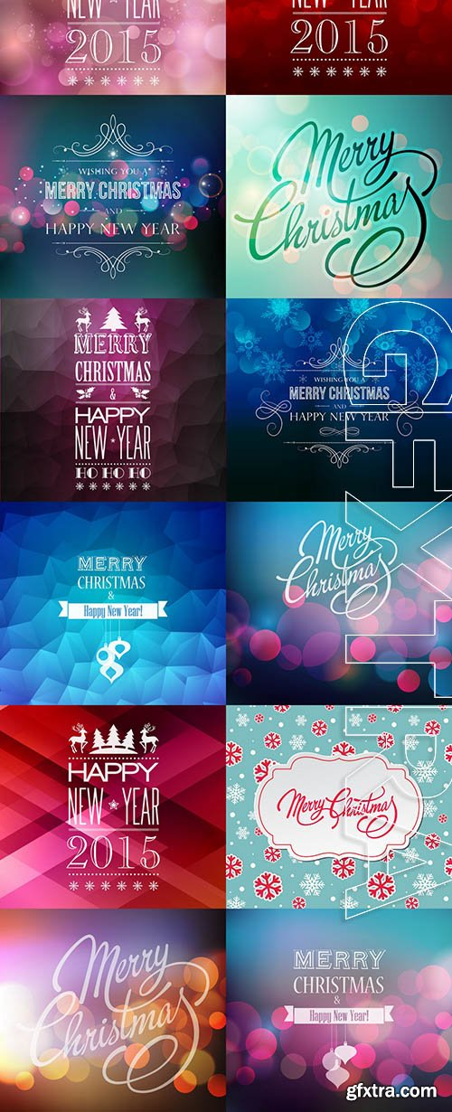 Vector - Abstract Christmas Backgrounds