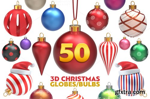 Christmas Globes Pack - 3D