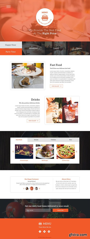 PSD Web Template - Menu - One Page Theme