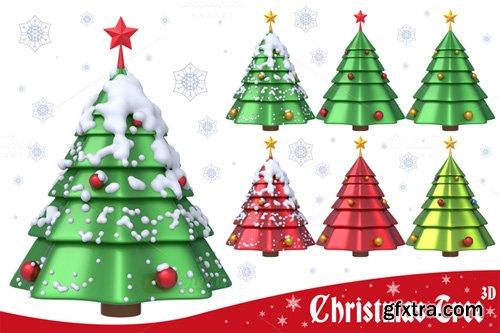 Christmas Tree 3D Set 1