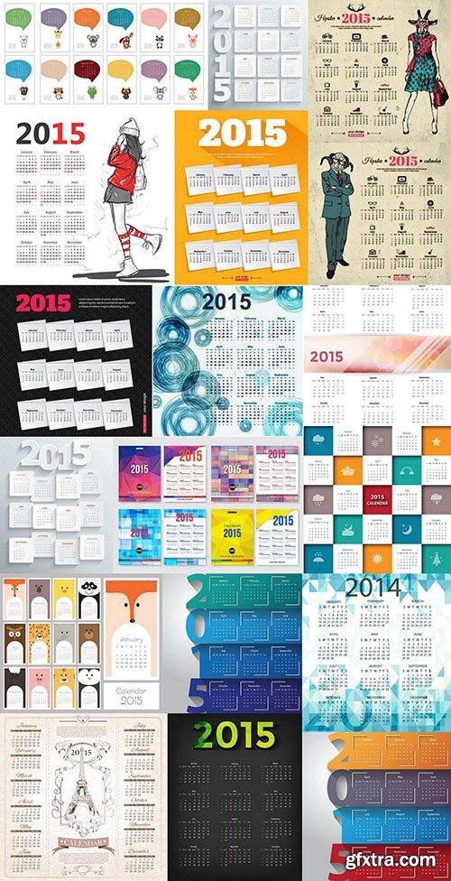 Calendar 2015 - Vector Collection, 25xEPS