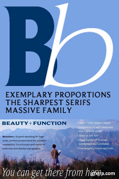 Beaufort Font Family $299