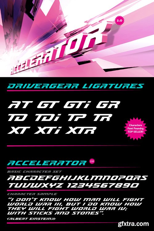 Accelerator Font Family $25
